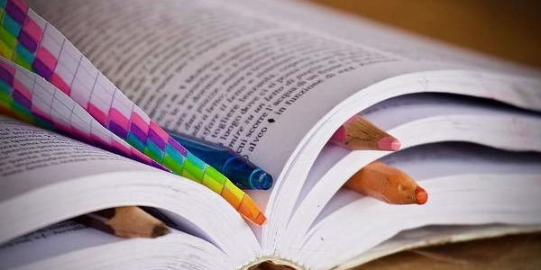books-pencils-pens-map